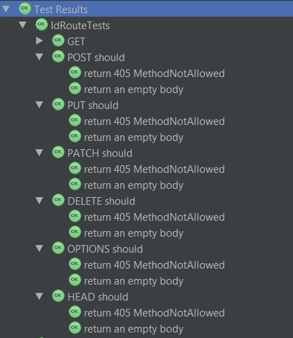 Method Not Allowed Test Results